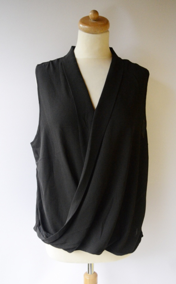Bluzka Czarna Cubus Kopertowa Elegancka XL 42 Wizytowa