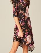 Mohito NOWA śliczna sukienka zakładana asymetryczna w kwiaty rozm S