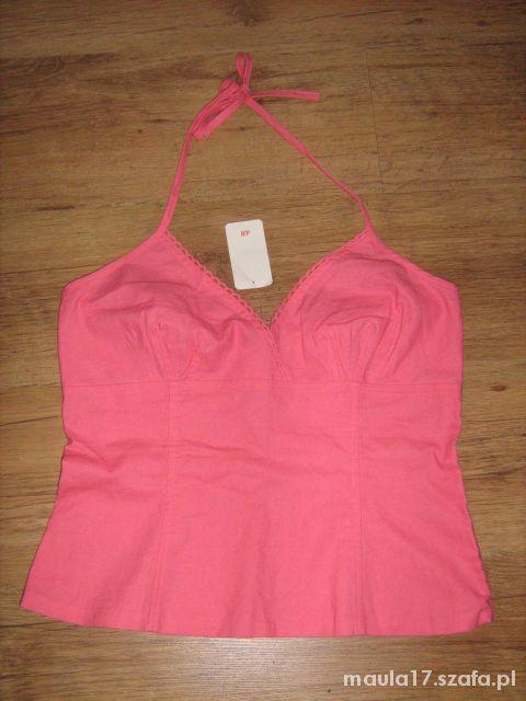 Letnia lniana bluzka H&M bez pleców...
