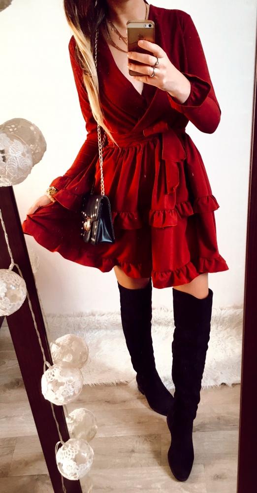Sukienka Damska rozkloszowana zjawiskowa SM