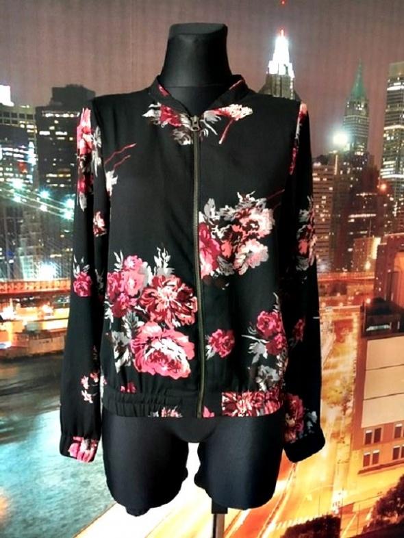 vila kurtka zwiewna bomberka modny wzór kwiaty jak nowa 36 S