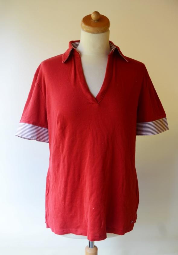 Polo Czerwone Tommy Hilfiger L 40 Bluzka Mercerized