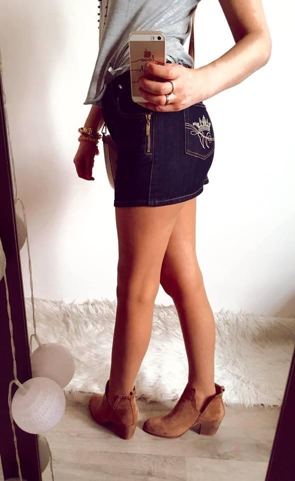 Spódnice Spódniczka Damska jeansowa S