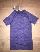 Vital seamless tshirt gymshark indigo marl 36 S bezszwowa bluzk...