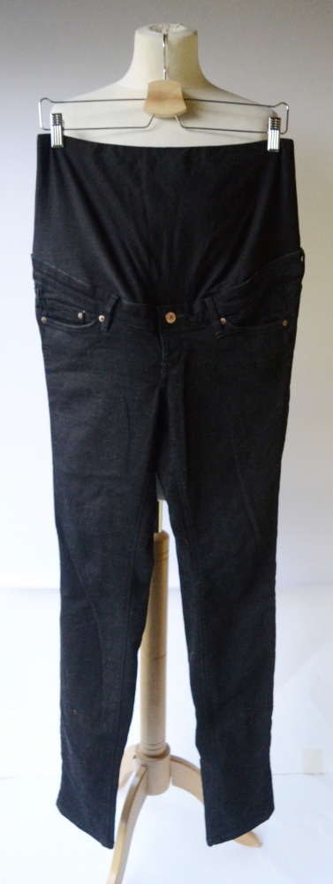 Spodnie Czarne L 40 H&M Mama Slim Rurki Ciążowe Ciąża