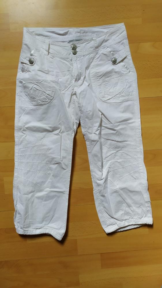 Spodenki Białe spodnie rybaczki 36 38 H&M