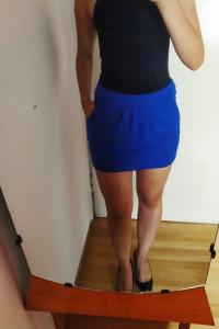 Niebieska spódniczka bombka mini 40 Miss Selfridge...