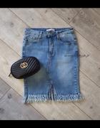 Nowa spódnica jeansowa frędzle...