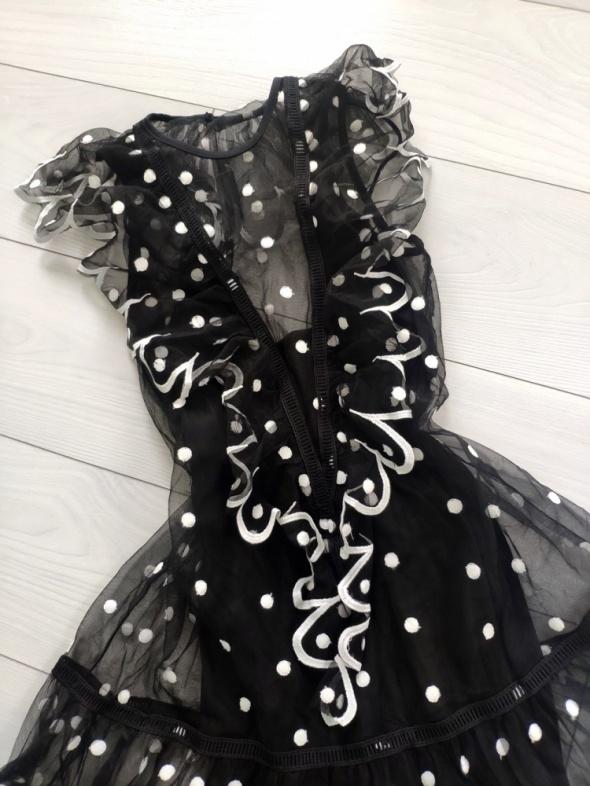 Sukienka hiszpanka tiul pasek piekny dekold