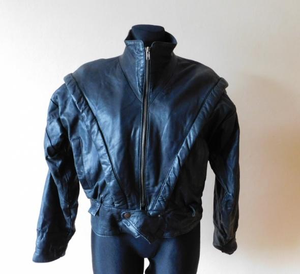 Czarna kurtka skóra 38 40
