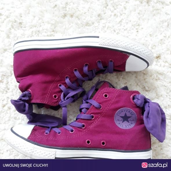 Unikatowe oryginalne fioletowe Converse All Star w Trampki