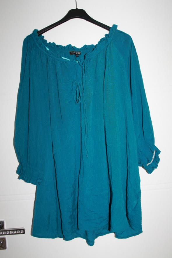 Bluzka hiszpanka super kolor butelkowa zielen 46...