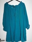 Bluzka hiszpanka super kolor butelkowa zielen 46