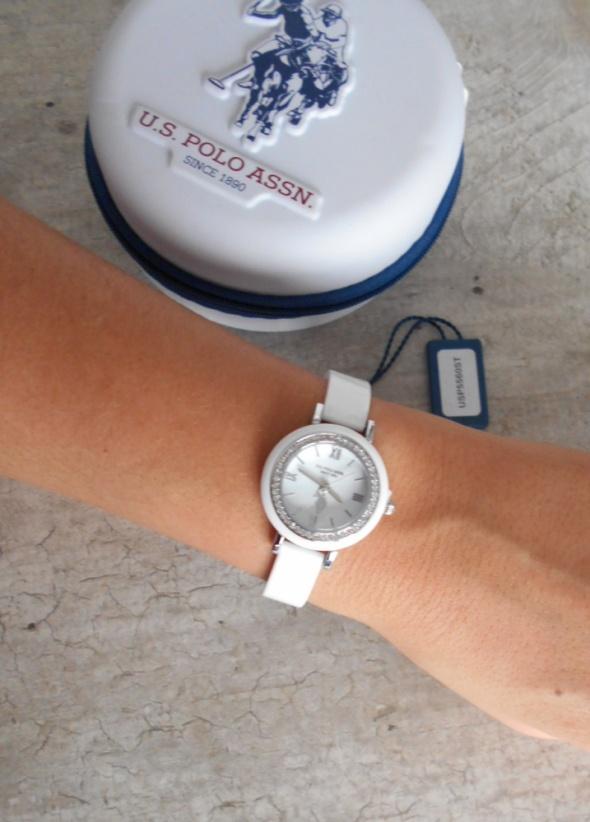 US Polo Assn nowy zegarek biały oryginalny