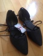 nowe sinsay baleriny wiązane
