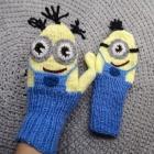 Minionki rękawiczki ocieplane dla dorosłego