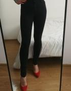 Spodnie czarne topshop leight skinny rurki xs high waist...