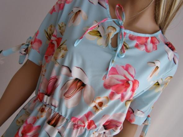 sukienka Italia włoska falbanka kwiaty zwiewna...