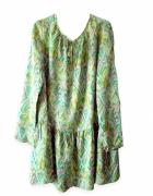 wzorzysta tunika boho jedwabna sukienka we wzory zielona tunika...