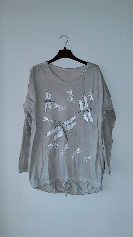 Idealna szara bluzka we wzorki