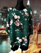 cellbes bluzka zielona kwiaty modny wzór i fason hit 42...