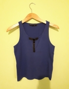 Kobaltowa bluzka PETITE marki Top Shop