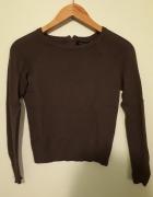 Ciemnozielona bluzka w prążki New Look 36...