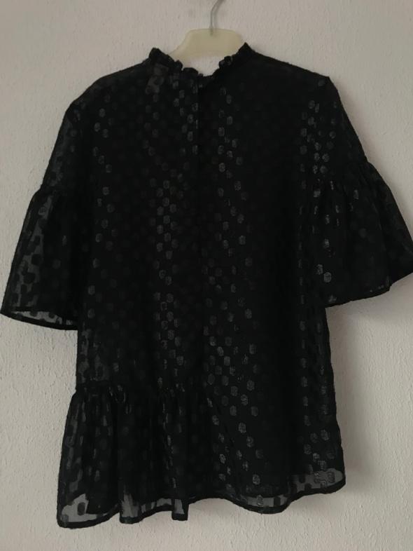 elegancka bluzka z krótkim rękawem H&M 34 36 XS S mgiełka...