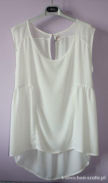 Asymetryczna bluzka Bershka biała...