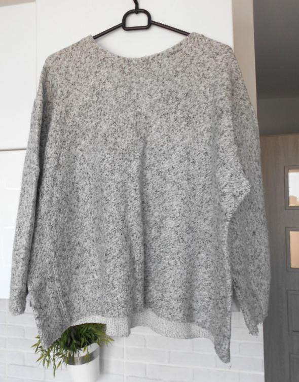 Zara szara bluza z dzianiny sweter oversize...