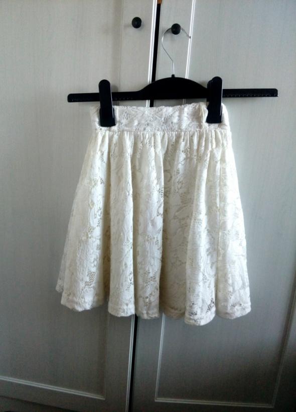 Spódnice Koronkowa spódnica plisy z koła