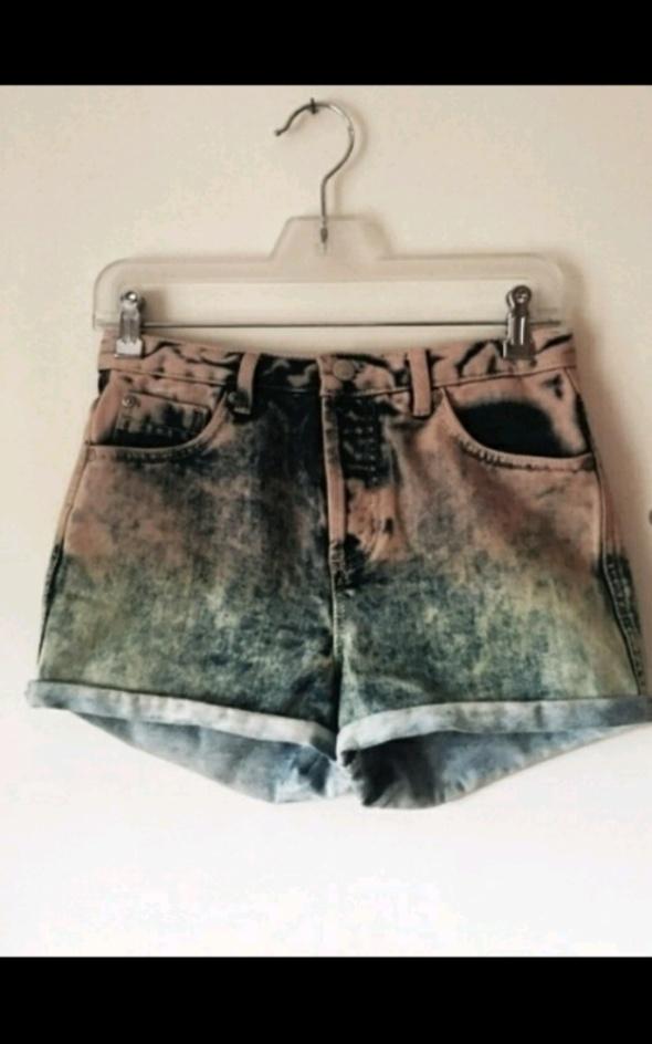 Jeansowe szorty topshop ombre