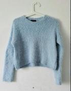 Piękny Sweterek Włochacz Baby blue Topshop