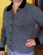 Elegancki sweterek siwy R 42 BELDOCH POPPER