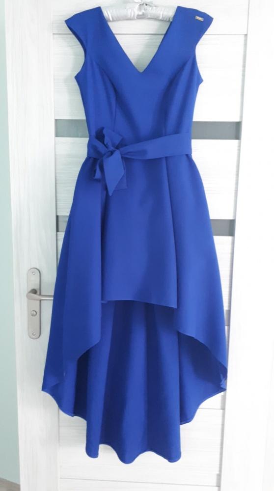 nowa piękna kobaltowa sukienka