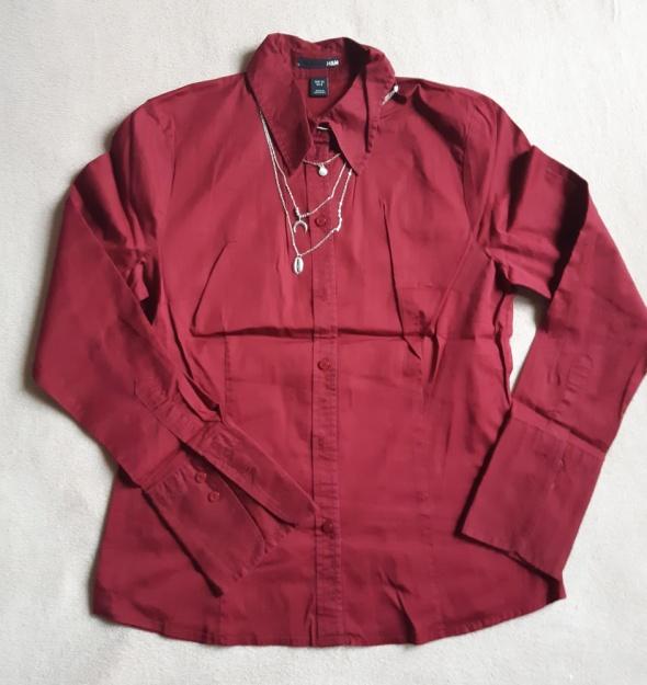 Bordowa koszula H&M rozm 38...