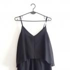 Vero Moda zwiewna czarna sukienka na lato M 38 10