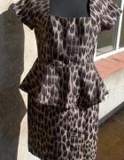 z baskinką panterkowa jak nowa angielska sukienka...