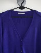 śliwkowy sweterek Marks Spencer UK16 44...