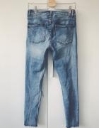 rurki z dziurami jeansowe VILA W31 strzępione...