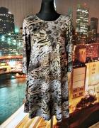 zuppe sukienka trapezowa panterka tygrys jak nowa 40 L...