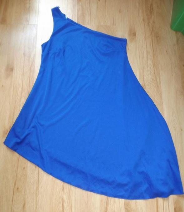 Asymetryczna kobaltowa sukienka Milla S