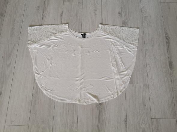 Luźna bluzka H&M nietoperz koronka oversize S M L...