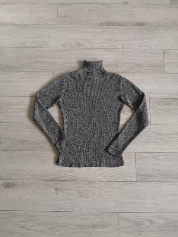 Sweter top golf prążkowany sweterek...
