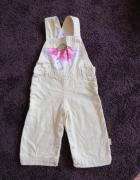 Ciepłe spodnie ogrodniczki seledynowe...