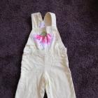 Ciepłe spodnie ogrodniczki seledynowe
