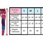 Leginsy Sportowe Color Panter XS S M L firmy ByE
