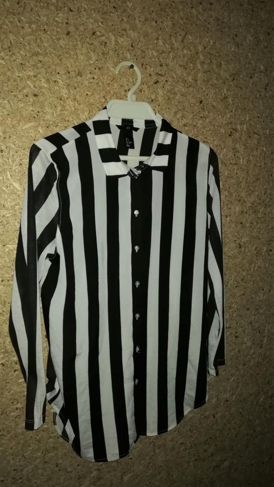 H&M Czarno biała koszula oversize w pasy 36...
