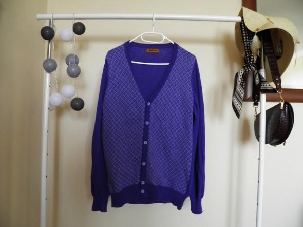 Fioletowy sweterek Vintage 80 procent wełna