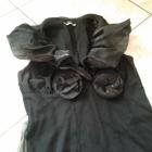 Czarna Sukienka z Rozami